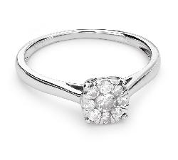 """Помолвочное кольцо с Бриллиантами """"Бриллиантовый цветок 29"""""""