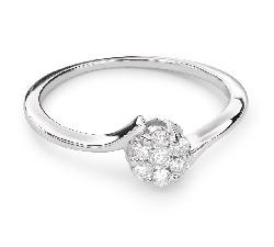 """Помолвочное кольцо с Бриллиантами """"Бриллиантовый цветок 30"""""""