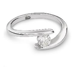 """Помолвочное кольцо с Бриллиантом """"В объятиях любви 28"""""""