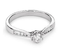 """Помолвочное кольцо с Бриллиантами """"Грациозность 88"""""""