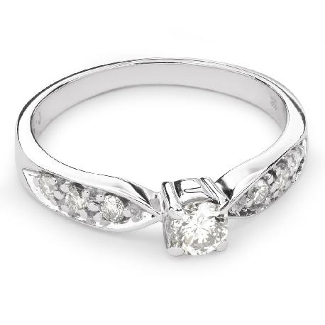 """Помолвочное кольцо с Бриллиантами """"Грациозность 89"""""""