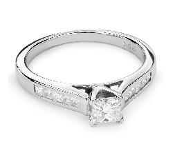 "Помолвочное кольцо с Бриллиантами ""Принцесса 50"""