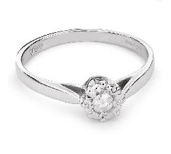 """Zelta gredzens ar Briljantu """"Mīļais 77"""""""