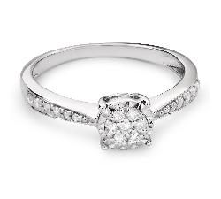 """Помолвочное кольцо с Бриллиантами """"Возлюбленный 72"""""""