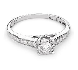 """Помолвочное кольцо с Бриллиантами """"Грациозность 91"""""""