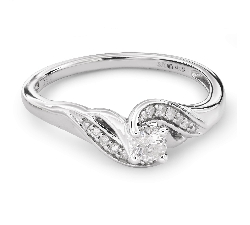 """Zelta gredzens ar Briljantiem """"Dzīve 26"""""""