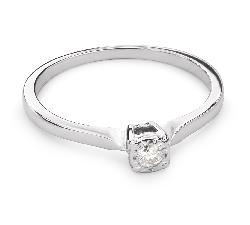 """Помолвочное кольцо с Бриллиантом """"Прочность 89"""""""