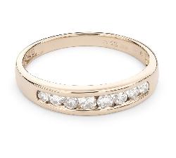 """Золотое кольцо с Aлмазами """"Алмазная полоска 45"""""""