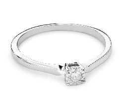 """Помолвочное кольцо с Бриллиантом """"Прочность 91"""""""