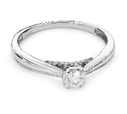 """Zelta gredzens ar Briljantu """"Mīļais 84"""""""