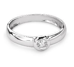 """Помолвочное кольцо с Бриллиантом """"Объятная 25"""""""