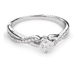 """Zelta gredzens ar Briljantu """"Mīļais 85"""""""