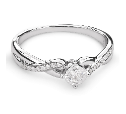 """Zelta gredzens ar Briljantu """"Mīļais 86"""""""