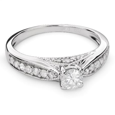 """Помолвочное кольцо с Бриллиантами """"Грациозность 96"""""""