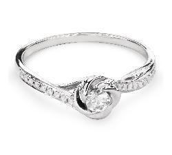 "Помолвочное кольцо с Бриллиантами ""Вихрь 19"""