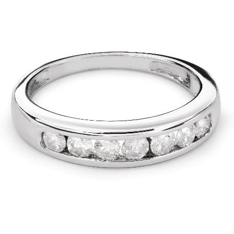 """Золотое кольцо с Бриллиантами """"Алмазная полоска 45"""""""