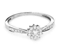 """Saderināšanās gredzens ar Briljantiem """"Briljanta zieds 31"""""""