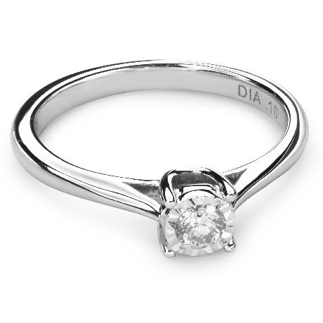 """Zelta gredzens ar Briljantu """"Mīļais 50"""""""