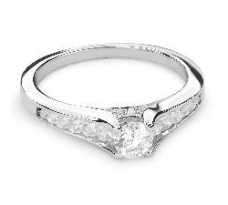 """Золотое кольцо с Бриллиантами """"Грациозность 99"""""""