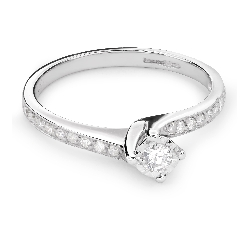 "Помолвочное кольцо с Бриллиантами ""Вихрь 20"""