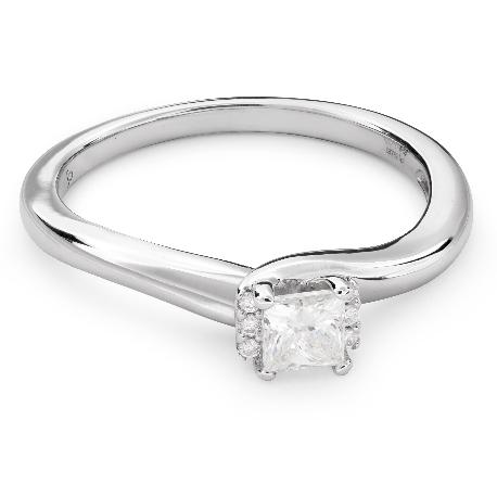 """Помолвочное кольцо с алмазами """"Принцесса 53"""""""