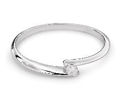 """Zelta gredzens ar Briljantu """"Mīlestības apskāvienos 30"""""""