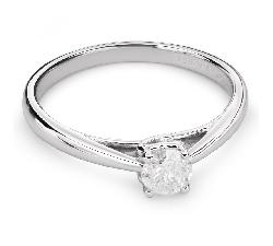 """Saderināšanās gredzens ar briljantu """"Dieviete 85"""""""