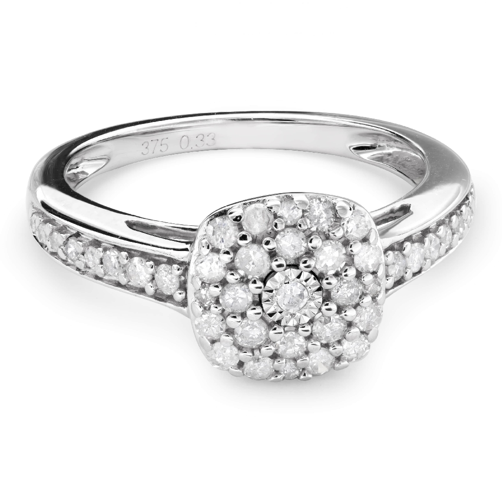 """Помолвочное кольцо с Бриллиантами """"Бриллиантовый букет 38"""""""