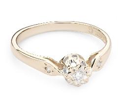 """Золотое кольцо с  Бриллиантом """"Возлюбленный 88"""""""