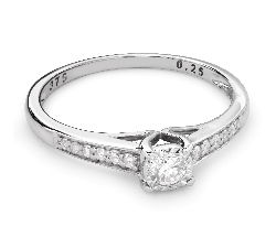"""Золотое кольцо с Бриллиантами """"Грациозность 100"""""""