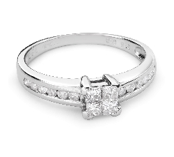 """Saderināšanās gredzens ar Dimantiem """"Princeses 44"""""""