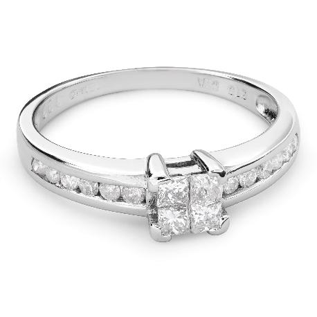 """Помолвочное кольцо с алмазами """"Принцессы 44"""""""