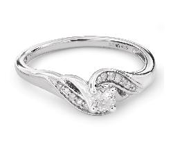 """Zelta gredzens ar Briljantiem """"Dzīve 27"""""""
