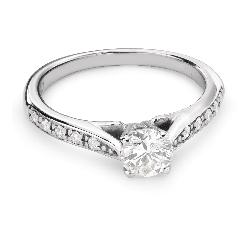 """Помолвочное кольцо с Бриллиантами """"Грациозность 101"""""""