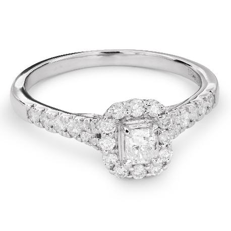 """Помолвочное кольцо с алмазами """"Незабываемый 14"""""""