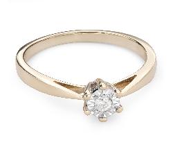 """Золотое кольцо с  Бриллиантом """"Возлюбленный 66"""""""