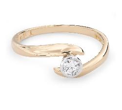 """Помолвочное кольцо с Бриллиантом """"Объятная 26"""""""