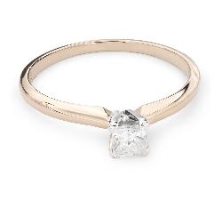 """Золотое кольцо с Aлмазами """"Принцесса 55"""""""