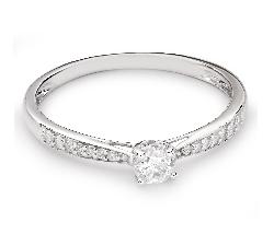 """Помолвочное кольцо с Бриллиантами """"Грациозность 102"""""""