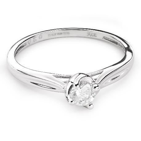 """Saderināšanās gredzens ar Briljantu """"Mīlestības apskāvienos 35"""""""