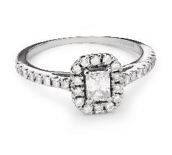 """Zelta gredzens ar Dimantiem """"Graciozitāte 106"""""""