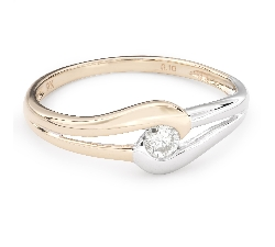 """Помолвочное кольцо с Бриллиантом """"В объятиях любви 34"""""""