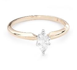 """Помолвочное кольцо с Aлмазом """"Королева сердца 23"""""""