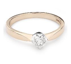 """Помолвочное кольцо с Бриллиантом """"Единственная 86"""""""