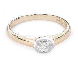 """Помолвочное кольцо с Aлмазом """"Единственная 16"""""""