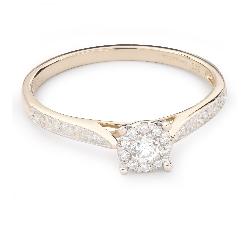 """Помолвочное кольцо с Бриллиантами """"Бриллиантовый цветок 32"""""""