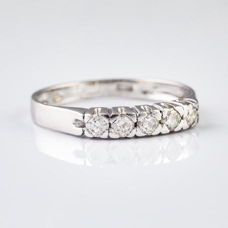 """Золотое кольцо с алмазами """"Алмазная полоска 4"""""""
