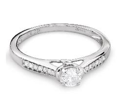 """Помолвочное кольцо с Бриллиантами """"Грациозность 103"""""""