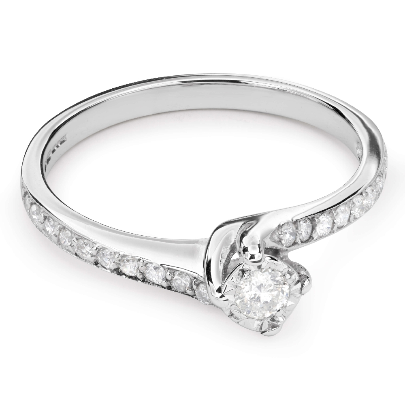 "Помолвочное кольцо с Бриллиантами ""Вихрь 22"""