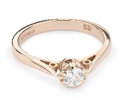 """Помолвочное кольцо с Бриллиантом """"Единственная 88"""""""